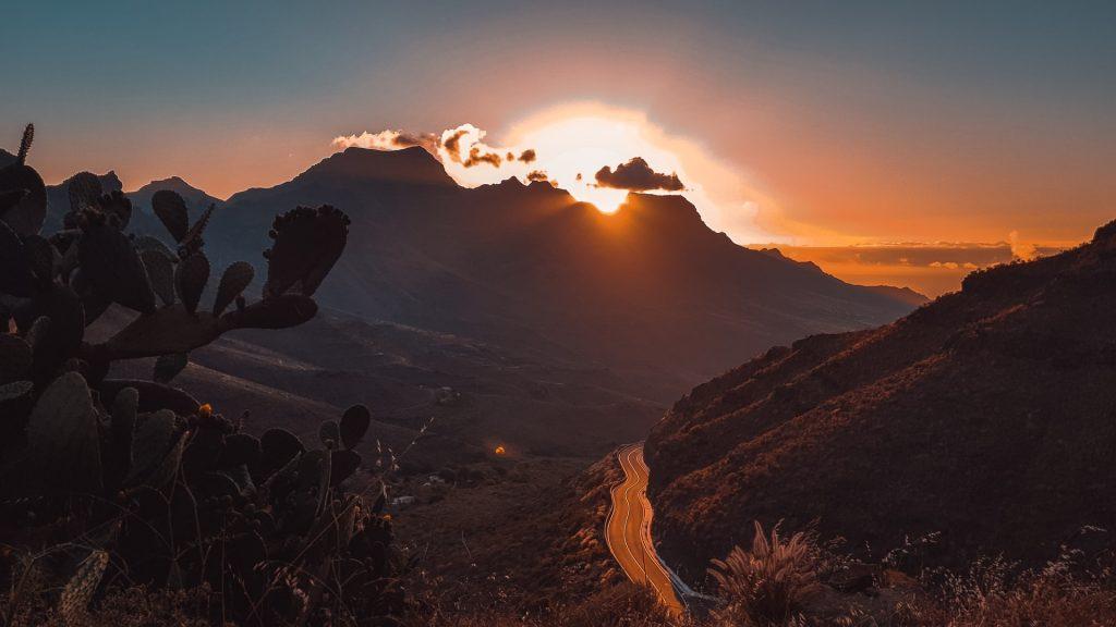 Gran Canaria fjell og vei