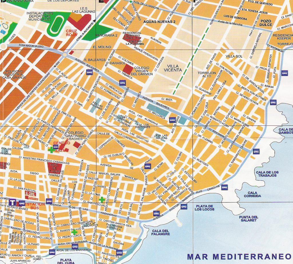 kart over Torrevieja